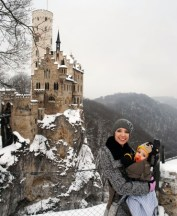 Lichtenstein Castle, we learned our lesson the first time and bought carriers.